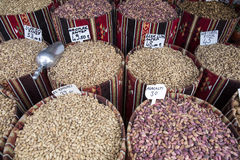 Nuts for sale in a shop, Gaziantep Royalty Free Stock Image