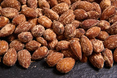 Nuts, salted almonds Stock Images