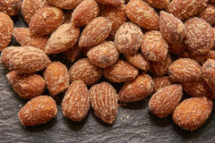 Nuts, salted almonds Royalty Free Stock Image
