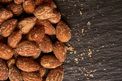 Nuts, salted almonds Stock Photos