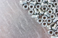 Nuts and screws Stock Photography