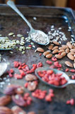 Nuts and seeds Stock Photo