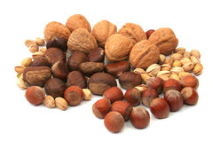 Nuts selection Royalty Free Stock Photo