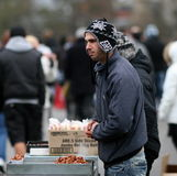 Nuts Seller Royalty Free Stock Image