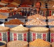 Nuts seller. Turkish nuts seller in Ankara's market Stock Photos