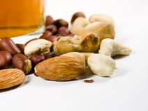 Nuts of several grades. Pistachios, peanut and other royalty free stock photography
