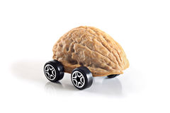 Nuts shell car Royalty Free Stock Images