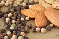 Nuts and Spices Royalty Free Stock Images