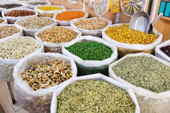 Nuts, spices and pulses Nizwa Royalty Free Stock Photography