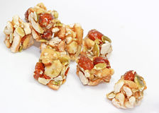 Nuts Squares Royalty Free Stock Photos