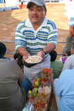 Nuts stadium salesman at a bullfight in Valladolid, Mexico Stock Photos