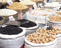 Nuts at street market Stock Photography