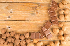 Nuts and sweets Royalty Free Stock Photography