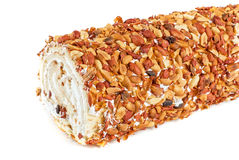 Nuts Swiss roll Royalty Free Stock Photography