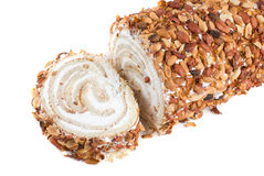 Nuts Swiss roll Stock Image