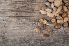 Nuts on the table Stock Image