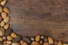 Nuts on a table Stock Photo