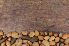 Nuts on a table Stock Photography