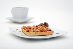Nuts tart Royalty Free Stock Image