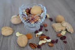 nuts torkade frukter Fotografering för Bildbyråer
