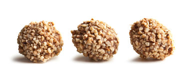 Nuts truffles Stock Images