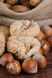 Nuts und getrocknete Feigen Lizenzfreie Stockbilder