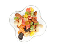 Nuts und getrocknete Früchte Stockfotos