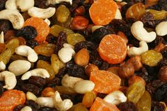 Nuts und getrocknete Früchte Stockbilder