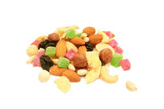 Nuts und getrocknete Früchte. Stockfotografie