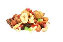 Nuts und getrocknete Früchte. Stockbild