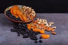 Nuts und getrocknete Fruchtmischung Stockfotos