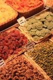 Nuts und kandierte Früchte am Markt Stockfoto