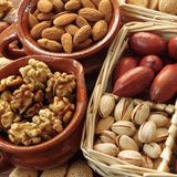 Nuts. stock photography