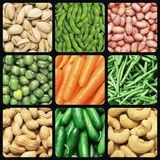 Nuts and vegetables Stock Photography