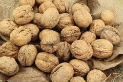 Nuts healthy food and diet Royalty Free Stock Images