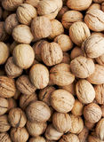 Nuts,  walnut. Background of brown walnuts, nuts Stock Photography