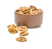 Nuts walnut in bowl Royalty Free Stock Images