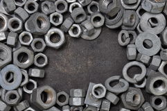 Nuts and washers Stock Photo