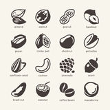 16 Nuts - web icon cet Stock Photo