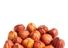 Nuts and white text area Royalty Free Stock Image