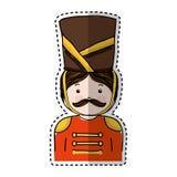 Nutscraker soldier isolated icon. Vector illustration design Stock Photo