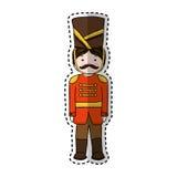 Nutscraker soldier isolated icon. Vector illustration design Stock Photos