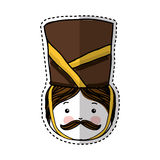 Nutscraker soldier isolated icon. Vector illustration design Royalty Free Stock Photography