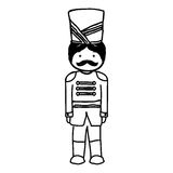 Nutscraker soldier isolated icon. Vector illustration design Royalty Free Stock Images