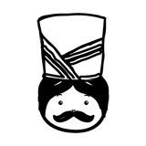 Nutscraker soldier isolated icon. Vector illustration design Stock Photography