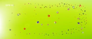 Nuttige abstracte ultra brede ruimteachtergrond royalty-vrije illustratie