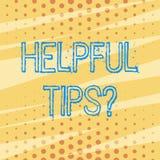Nuttige de Uiteindenvraag van de handschrifttekst Concept geheime informatie betekenen of advies die wordt gegeven die om nuttige vector illustratie