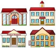 Nuttige gebouwen stock illustratie