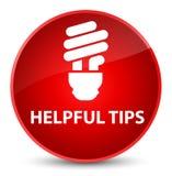 Nuttige uiteinden (bolpictogram) elegante rode ronde knoop vector illustratie