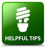 Nuttige uiteinden (bolpictogram) groene vierkante knoop royalty-vrije illustratie